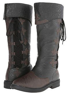 Mens #renaissance pirate #medieval steampunk costume knee high boot size #uk7-uk1,  View more on the LINK: http://www.zeppy.io/product/gb/2/112082510506/