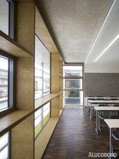 School extension, Warendorf | Germany | msah m.schneider a.hillebrandt architektur, Cologne | Photo: Christian Richters | ALUCOBOND® plus Cream