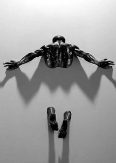 A set of male bronze sculpture by Milan Base sculptor Matteo Pugliese. The male figure and the concept of coming out from an other dimension is absolutely amazing. other works by Matteo Pugliese Ke… Instalation Art, No Photoshop, Art Plastique, Wall Sculptures, Love Art, Oeuvre D'art, Metal Art, Amazing Art, Awesome