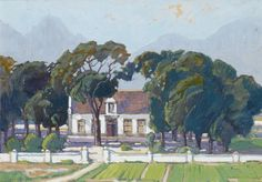 Cape Dutch house was sold by Bonhams, London, on Wednesday, September Landscape Art, Landscape Paintings, Landscapes, Cape Dutch, Dutch House, African Paintings, South African Art, Tree Art, Faeries