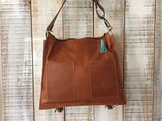 Crossbody leather bag cross body purse brown leather by Percibal