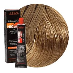 L'Oreal Excellence HiColor Permanent Hair Color is specifically developed to lift dark hair in one single step without brassiness.