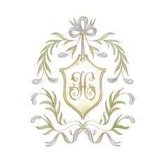 Wedding Logos, Monogram Wedding, Wedding Stationary, Monogram Design, Monogram Fonts, Logo Design, Baby Girl Announcement, Ethereal Wedding, Embroidery Monogram