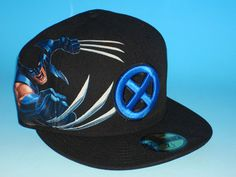 001475cf83b Blue and Black Wolverine New era fitted hat