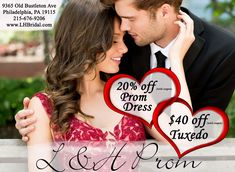 Prom season is here! Spread the word about L&H Prom and check out our amazing deals for Prom dresses & Tuxedos!