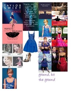 """""""Sweeter Than Fiction-Taylor Swift"""" by taught-to-fly19 on Polyvore featuring moda, Oscar de la Renta e Christian Louboutin"""