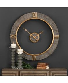 Decorative Arts Antiques Discreet Analog Wall Clock,living Room,bedroom,kitchen,made From Red Oak