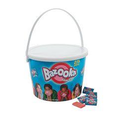Bazooka® Bubble Gum - OrientalTrading.com Bazooka Bubble Gum, Oriental Trading, Bubbles, Parties, Packaging, Holidays, Wedding, Fiestas, Valentines Day Weddings