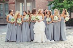 Chic bridesmaid dress idea; photo: Vanessa Joy
