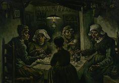 De aardappeleters, 1885, Vincent van Gogh, Van Gogh Museum, Amsterdam (Vincent van Gogh Stichting)