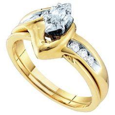 1/4CT-Diamond MQ-CENTER BRIDAL SET