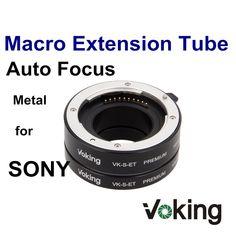 Voking Metal Adapter Ring 10mm 16mm Extension tube VK-S-ET Premium for Sony NEX Micro DSLR E-Mount Camera