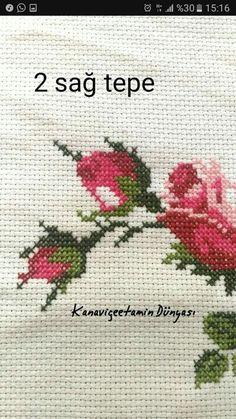 Cross Stitch Rose, Cross Stitch Flowers, Cross Stitch Patterns, Embroidery Stitches, Design, Cross Stitch Embroidery, Towels, Hand Embroidery, Patterns