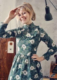 Aja of Lundagård in one of her beautiful vintage dresses