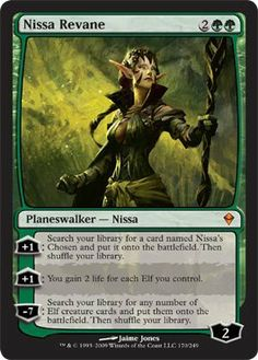 Amazon.com : Magic: the Gathering - Nissa Revane (170) - Zendikar : Collectible Single Trading Cards : Toys & Games