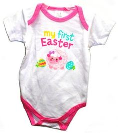My First Easter Lamb Baby Onesie Dress Up Outfit (0-3 Months)