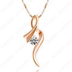 New 18K Gold Plated Jewelry Gorgeous Swarovski Crystal Fashion Pendant Necklace N104R1