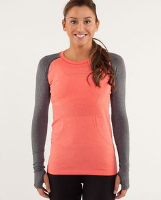 Bribe myself with cute workout clothes! run:swiftly tech long sleeve | women's tops | lululemon athletica  #fitforholidays