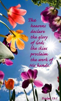 """Psalm heavens are declaring the glory of God; the skies above proclaim the work of his hands."""" New World Translation 2013 edition. Scripture Verses, Bible Verses Quotes, Bible Scriptures, Faith Quotes, Psalms Verses, Godly Quotes, Biblical Quotes, Word Of Faith, Word Of God"""