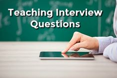 Sample teaching interview questions that explore your teaching skills and knowledge. Be ready with winning interview answers to get the teaching job you want. Teaching Interview Questions, Interview Answers, Interview Skills, Teacher Jobs, Teacher Interviews, Jobs For Teachers, Teaching Techniques, Teaching Skills, Resume Tips