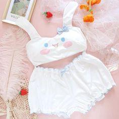Harajuku Fashion, Kawaii Fashion, Fashion Outfits, Gothic Fashion, Cute Bras, Cute Lingerie, Pijamas Women, Mode Kawaii, Kawaii Bunny