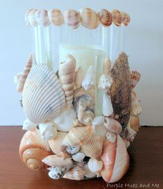 Seashell Hurricane Votive DIY