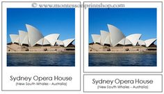 Australia / Oceania Landmarks: 3-Part Cards: Beautiful photographs that show the Landmarks of Australia, Oceania, Australasia. Cards are in a 3-part card format.  Includes: - 18 pictures with labels - 18 pictures without labels - 18 labels - 3 title cards (Australia, Oceania, Australasia)