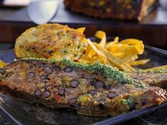 Mexicana Meatloaf with Cilantro Pesto and Crispy Tortilla Strips Recipe : Guy Fieri : Food Network - FoodNetwork.com