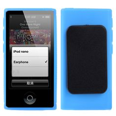 front and rear view of iPod nano 7th clip case in blue