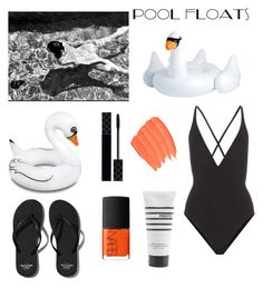 """""""Pool Party"""" by bellaarchiero ❤ liked on Polyvore featuring Proenza Schouler, Big Mouth, Abercrombie & Fitch, Gucci, Pirette and NARS Cosmetics"""