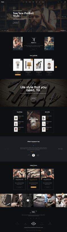 Platin is a wonderful premium #PSD template for #webdev multipurpose #barber shop eCommerce website download now➩ https://themeforest.net/item/platin-a-premium-multi-ecommerce-psd-template/19241557?ref=Datasata