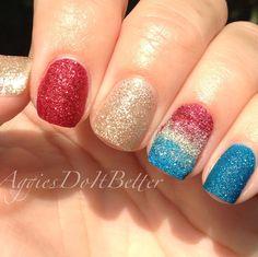 Fourth of July nails zoya pixiedust