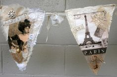 French shabby chic  banner.