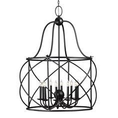 Turbinio Lantern Pendant with Blacksmith finish by Sea Gull Lighting 5116410-839