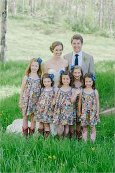 country flower girl and ring bearer matching clothes - Google Search