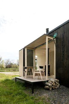 Folding shelter - I need one like this!  Michiel De Backer + Jakub Senkowski + Martin Mikovčák  © Thomas Debruyne