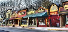 Store fronts. Fort Langley, BC