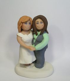 same sex wedding topper  www.facebook.com/gingerbabies