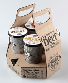 Mug Pub Package Design. Would be great for coffee too