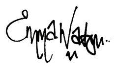 The autograph of Emma, like it!