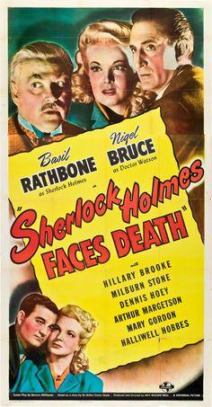 """""""Sherlock Holmes Faces Death"""" (1943) Basil Rathbone, Nigel Bruce"""