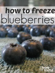 How to Freeze Blueberries when you find them on sale!