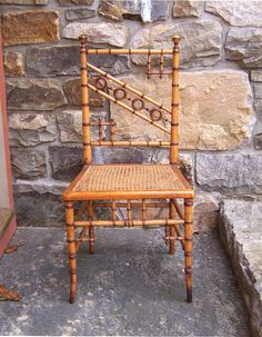 American Victorian Faux bamboo side chair c1880.