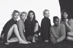 Cindy Crawford, Helena Christensen, Eva Herzigova, Karen Alexander, Nadja Auermann, and Tatjana Patitz