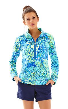 Skipper Printed Popover - Sea Blue Lilly's Lagoon - Size L