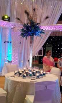 Tall centerpiece with LED Light in it