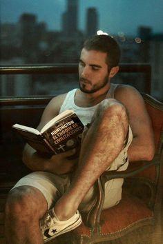 sexy spanish guy reading a book #MenReadingBooks