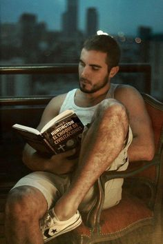 sexy spanish guy reading a book #MenReadingBooks