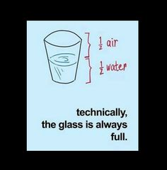 Perspective - the glass is always full of something.