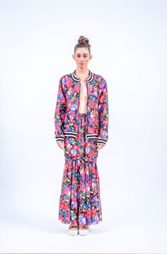 Romani Design, ss17, wanderers of the worlds, roma, gypsy, stripes, striped, floral, print, rose, roses, fashion, flower, flowers, outfit, spring, summer, dress, skirt, midi, maxi, bomber, jacket, stripe, stripes Wander, Gypsy, Women Wear, Stripes, Dress Skirt, Skirts, Bomber Jacket, Roses, Spring Summer